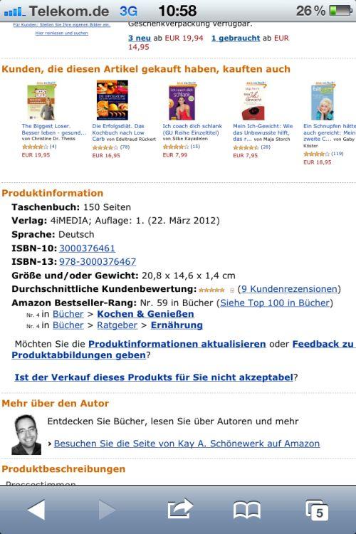 Schnelles Abnehmen in den Top 100 Büchern bei Amazon