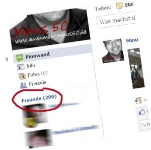 30 Tage online, 300 Freunde bei Facebook! Danke an alle!!!