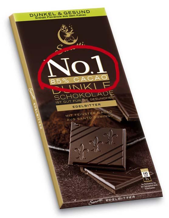 Beim Abnehmen kann man Heißhunger mit sehr dunkler Schokolade ausbremsen