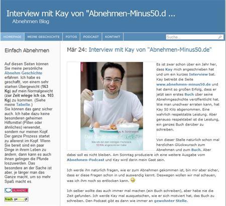 Interview zu meinem Buch übers Abnehmen