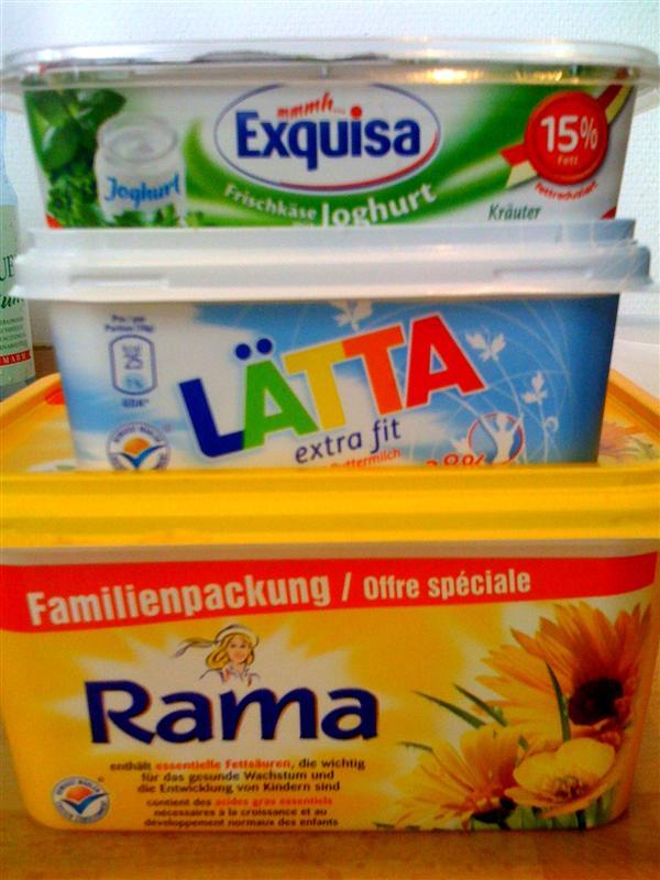 statt margarine butter