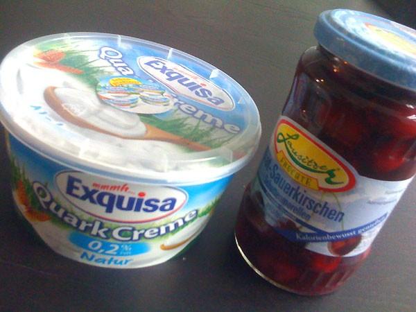 Magerquark - Rezept zum Abnehmen mit Quark und Kirschen